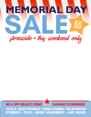marketing tools - Memorial Day This Weekend Only Sale