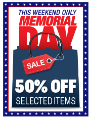 marketing tools - Memorial Day 50% Off Sale